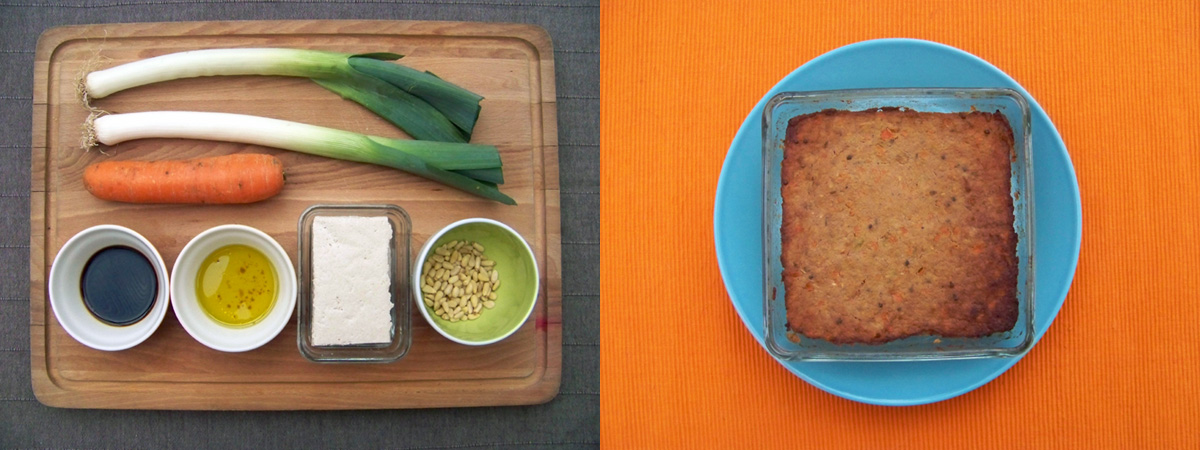 Pictures showing the paté and its ingredients