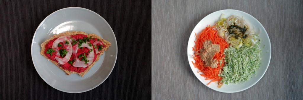 An image of two tasty raw vegan dishes.