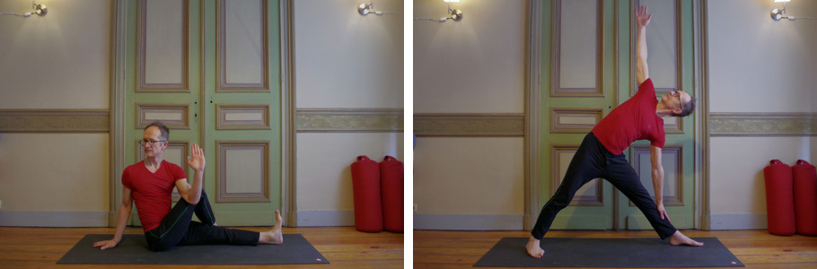 Picture showing two yoga postures