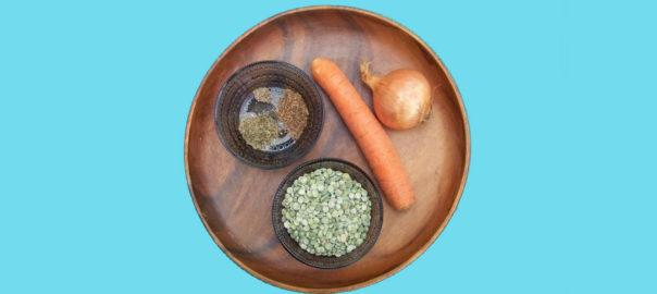 Split pea soup ingredients