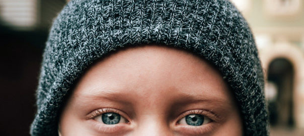 An image of bright child's eyes