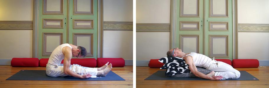 Deux postures de Yin yoga