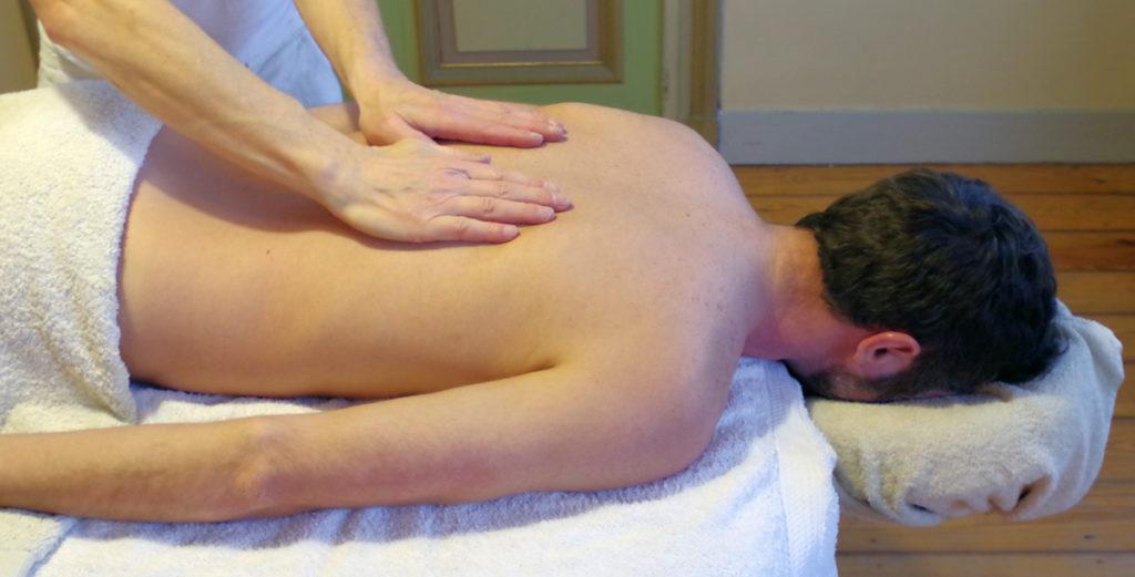 Photo d'un massage du dos