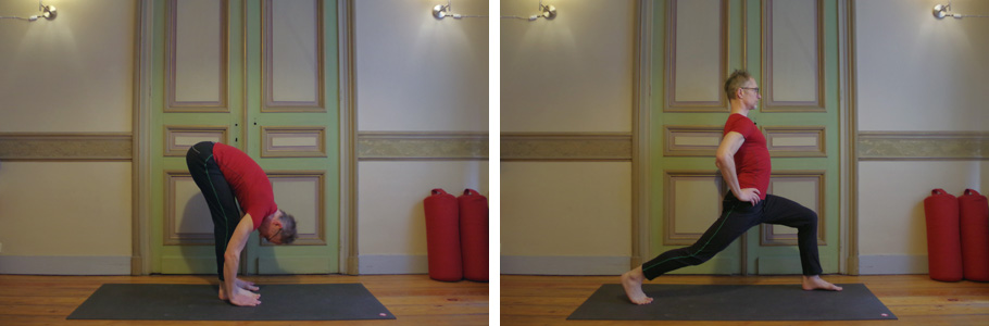 Photo de deux postures de yoga