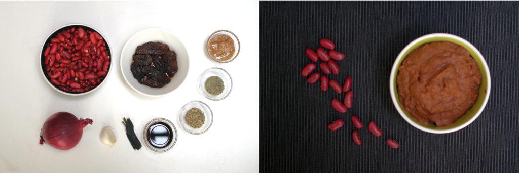 La purée de fèves et ses ingrédients
