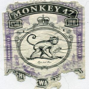 Afbeelding van een gravure van een aap