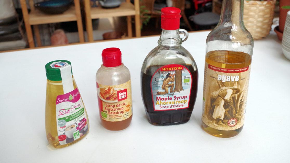 Foto van vier suikeralternatieven